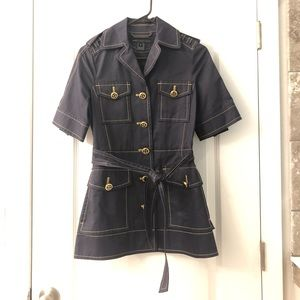 Marc Jacobs Navy and Gold Coat Dress